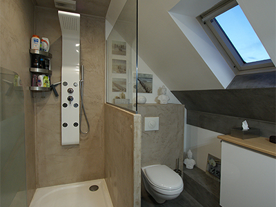 Salle bain adolescents douche renovation Atelier Goreti